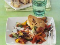 Putensteak mit Mittelmeergemüse Rezept