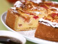 Quarkkuchen mit Rhabarber Rezept