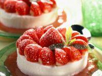 Quarkmousse mit Erdbeeren