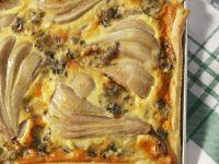 Quiche mit Birnen und Gorgonzola Rezept