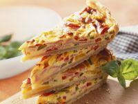 Quiche mit Paprika und Schinken Rezept