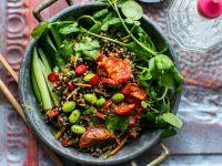Quinoasalat mit Edamame und schwarzem Reis Rezept