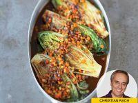Salat mal anders: geschmorte Römersalatherzen