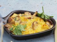 Raclette mit Pilzen und Käse Rezept