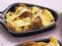 Raclette mit Würstchen und Sauerkraut Rezept