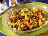 Räucherfischsalat mit Melonensauce Rezept