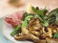 Rapunzel mit gebratenen Austernpilzen Rezept