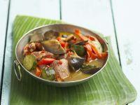 Ratatouille mit Schweinefleisch auf kreolische Art Rezept