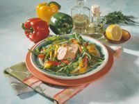 Raukesalat mit Paprika und Schweinefilet Rezept