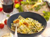 Ravioli mit Basilikumsauce Rezept