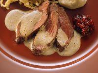 Rehbraten mit Püree und Sellerie Rezept