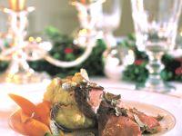 Rehrücken in Madeirasauce und Parmesan-Polenta Rezept
