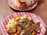 Rehschnitzel mit Waldpilzsauce Rezept