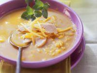 Reis-Curry-Suppe mit Hähnchen und Mango