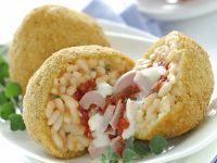Reis-Kroketten mit Thunfisch und Mozzarella
