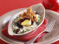 Reis mit frittiertem Ei Rezept