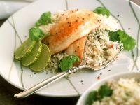 Reis mit gebratener Hähnchenbrust Rezept