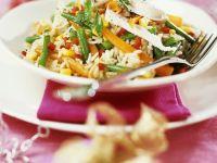 Reis mit Hähnchen und Gemüse Rezept