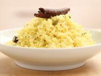 Reis mit Safran herstellen Rezept