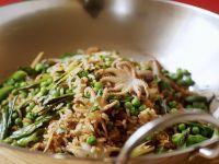 Reis mit Tintenfisch aus dem Wok Rezept