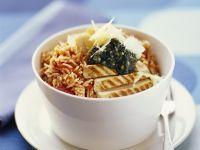 Reis mit Tomaten und Hähnchenbrust Rezept