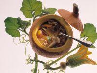 Reis-Suppe im Kürbis Rezept