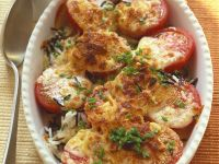 Reis-Tomatengratin Rezept