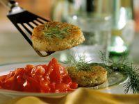 Reisfrikadellen mit scharfem Gemüse Rezept