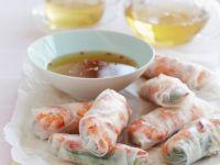 Reispapierröllchen mit Chilisauce Rezept