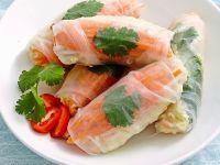 Reispapierröllchen mit Garnelen Rezept