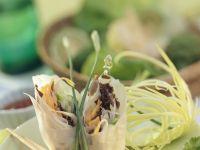 Reispapierröllchen mit Gemüsefüllung Rezept