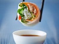 Reispapierrolle mit Thunfisch Rezept