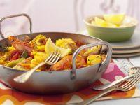Reispfanne auf spanische Art (Paella) Rezept