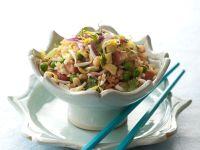 Reispfanne mit Gemüse und Shirmps Rezept