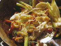 Reispfanne mit Rotbarsch Rezept