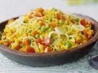 Reispfanne mit Safran Rezept