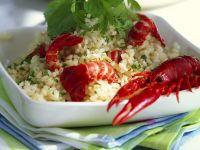 Reissalat mit Flusskrebsen Rezept
