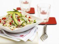 Reissalat mit Hähnchen und Avocado Rezept