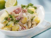 Reissalat mit Schinken und Ananas Rezept