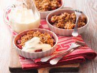 Rhabarber-Crumble mit Joghurt Rezept