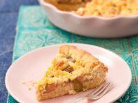 Rhabarber-Streuselkuchen mit Mürbeteig Rezept