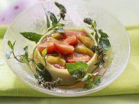 Rhabarbergrütze mit Beeren Rezept
