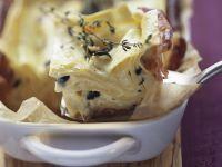 Ricotta-Lasagne mit Parmaschinken