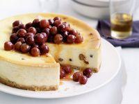 Ricottatorte mit Honig-Trauben-Topping Rezept