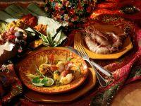 Riesengarnelen mit Limetten-Curry-Sauce
