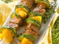 Rinderfilet mit Gemüse auf Spießen Rezept