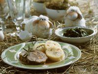 Rinderroulade mit Böhmischem Knödel zu Ostern Rezept