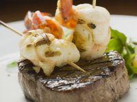 Rindersteak mit Meeresfrüchten Rezept
