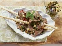 Rindfleisch mit Kapern-Dressing Rezept