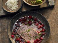 Rindfleisch mit Linsen-Rote Bete-Gemüse Rezept